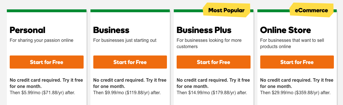 GoDaddy Review Payment Plans