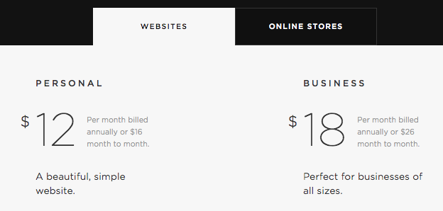 Squarespace Review 2017 Pricing