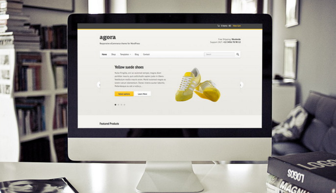 Agora Theme – Ecommerce promotion at it's finest