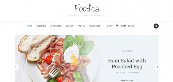 Foodica wp Template