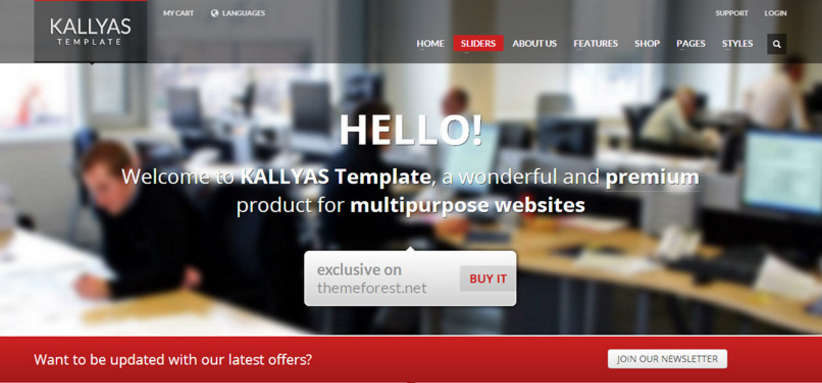 The KALLYAS joomla Theme