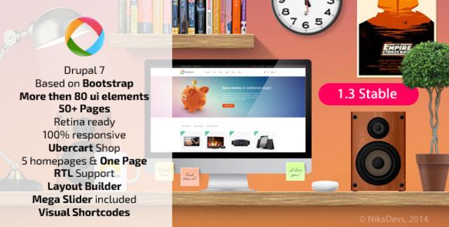 The Progressive - Responsive Multipurpose Drupal 7 Template