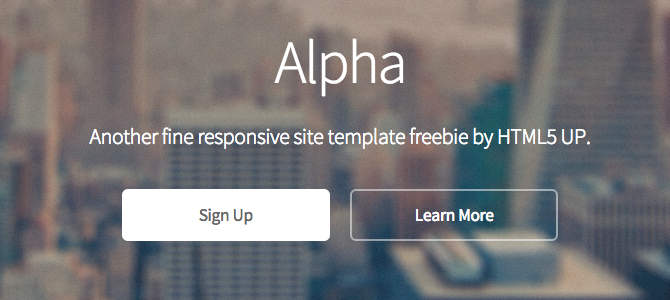 Alpha by HTML5up