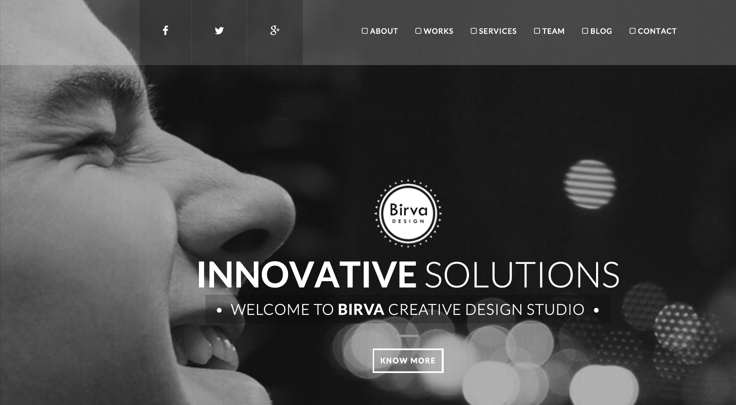 Birva - Creative One Page Joomla! Theme