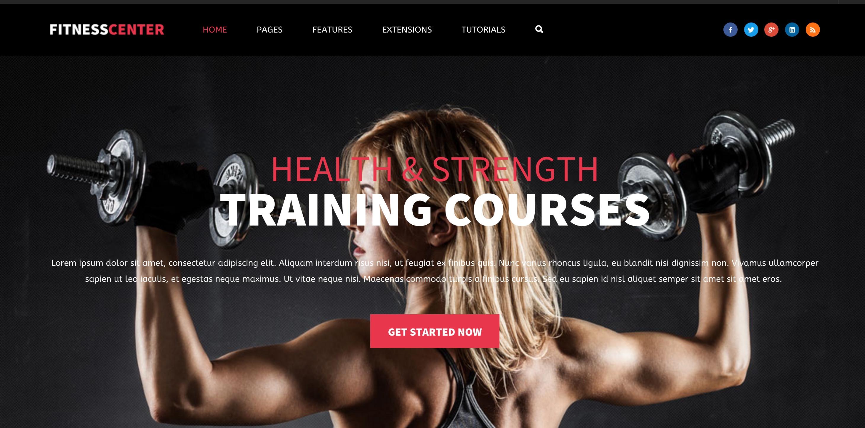 Fitness Center joomla template