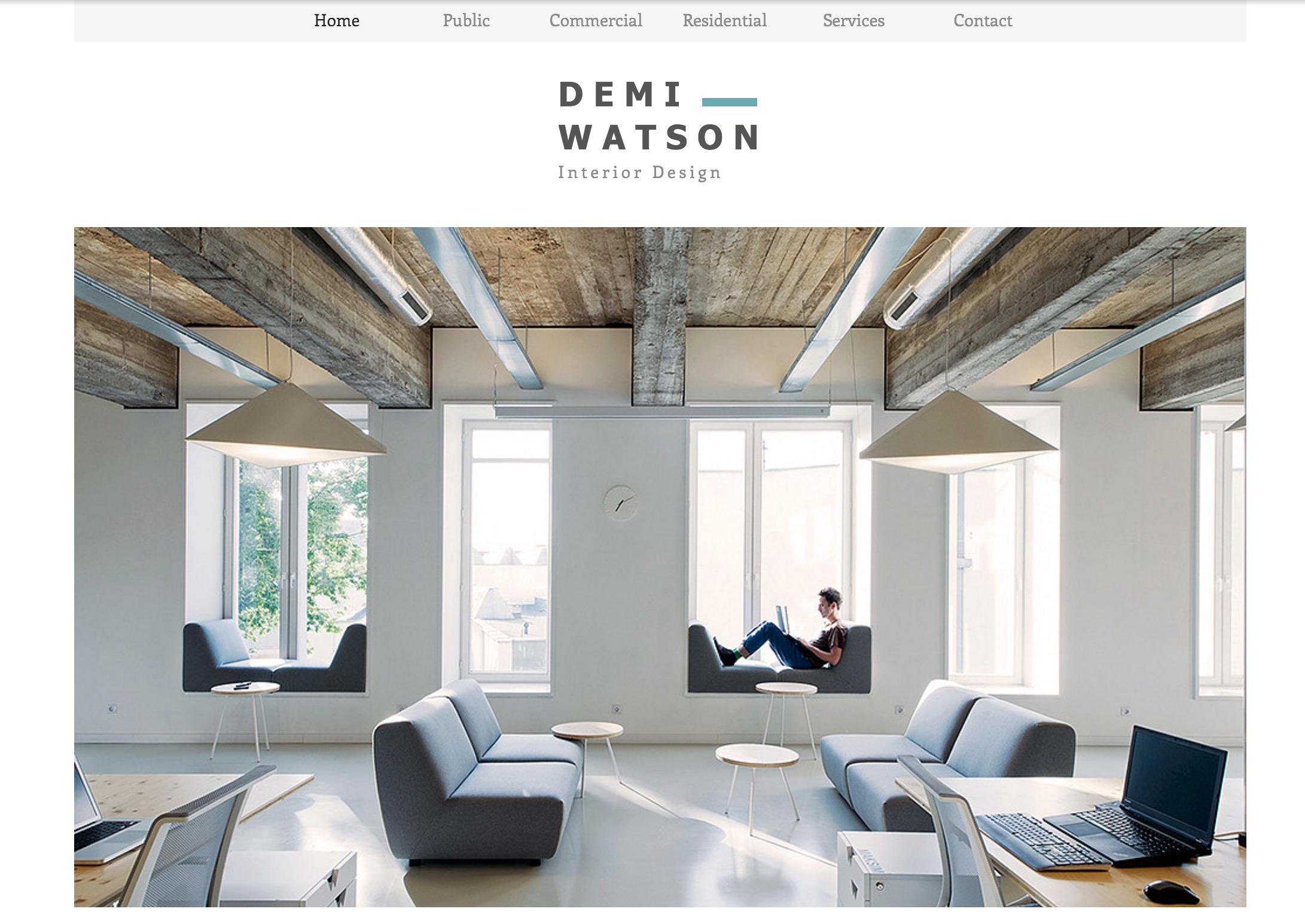 57 stunning wix website themes and templates for Best interior design sites