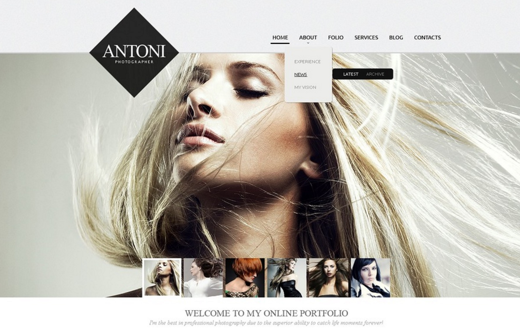 The Antoni Photographer Theme