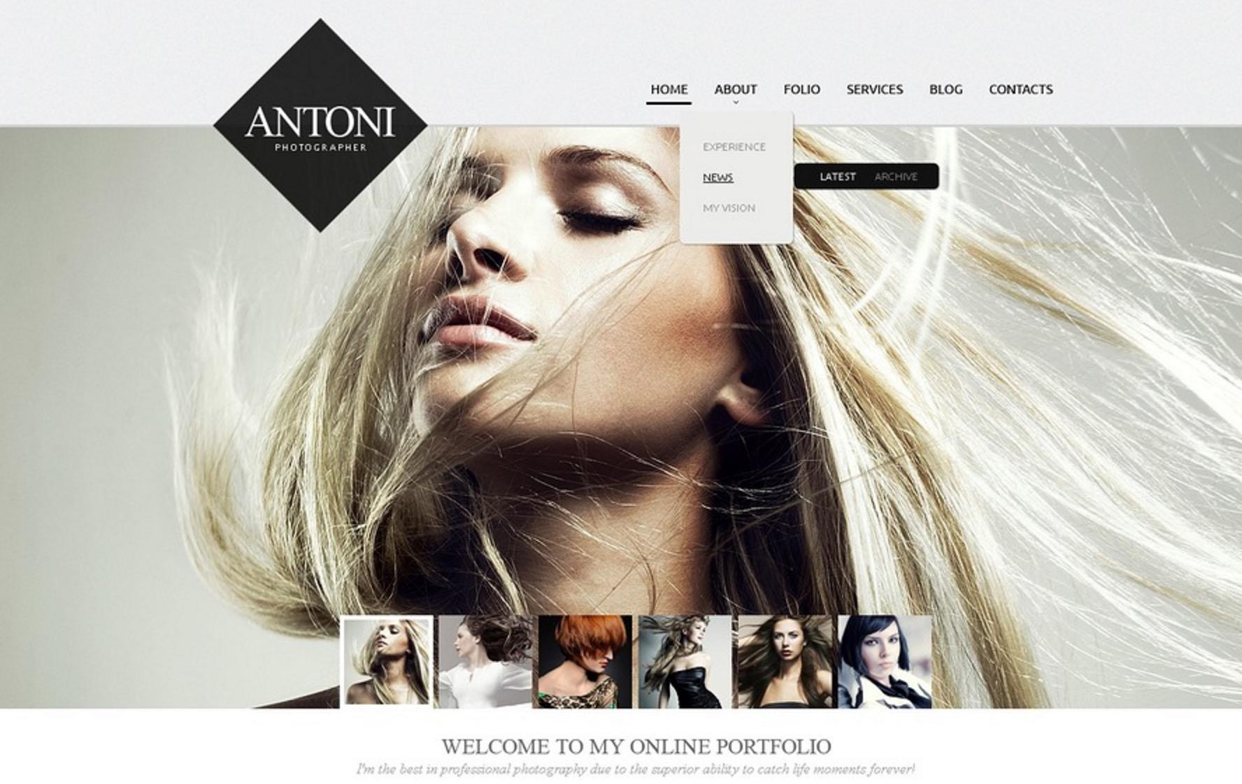 The Antoni Photographer Theme