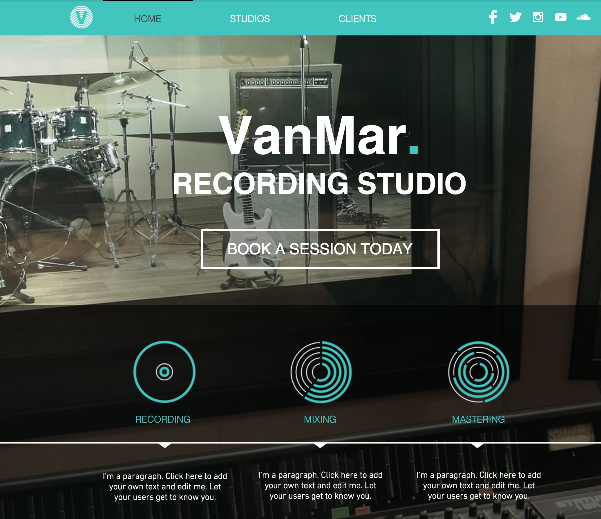 The Music Studio Template for Aspiring Recording Artists