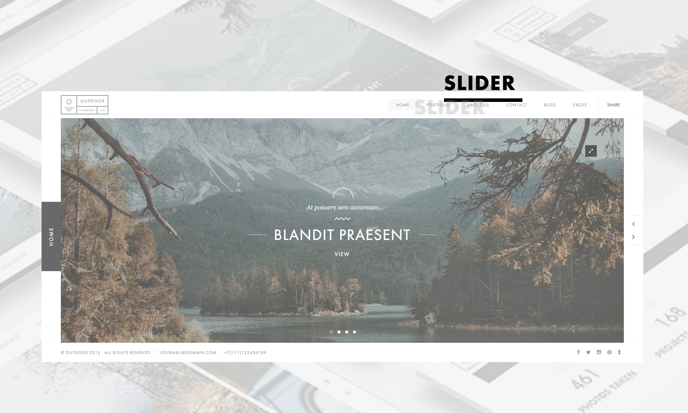 The Outdoor Responsive Template