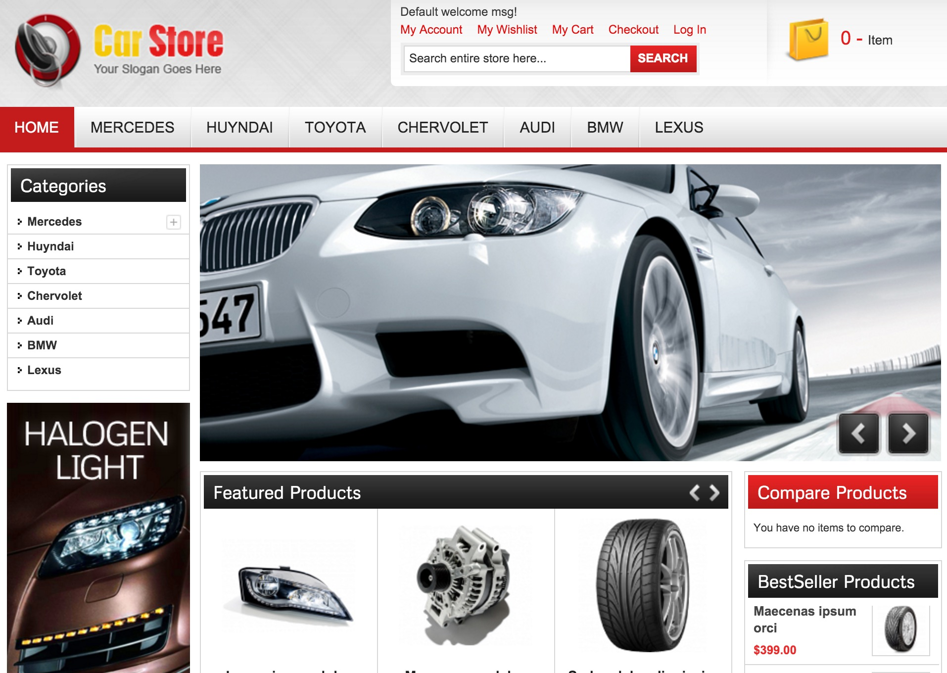 Accessories – Vehicle Oriented Theme