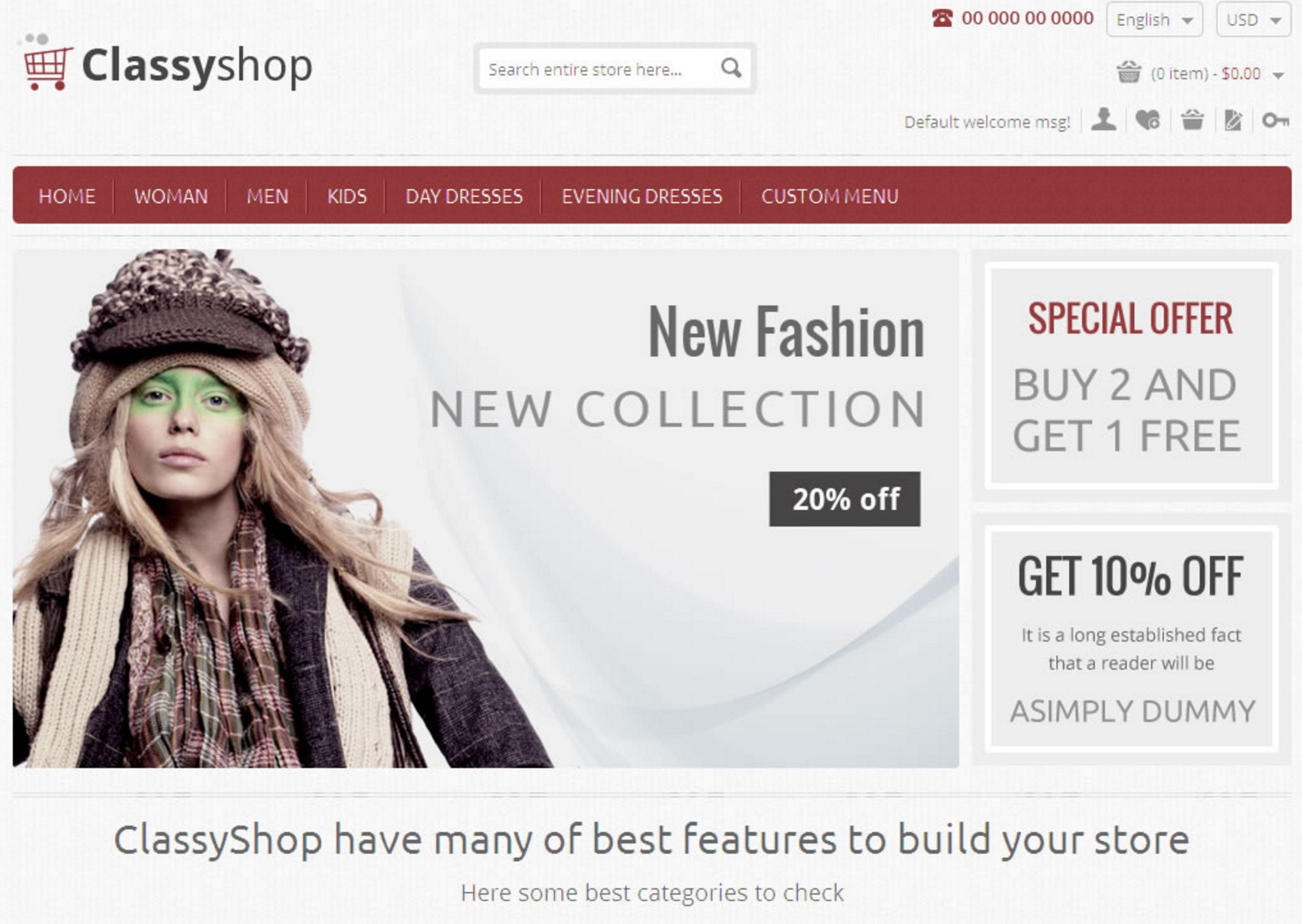 Classy Shop Template