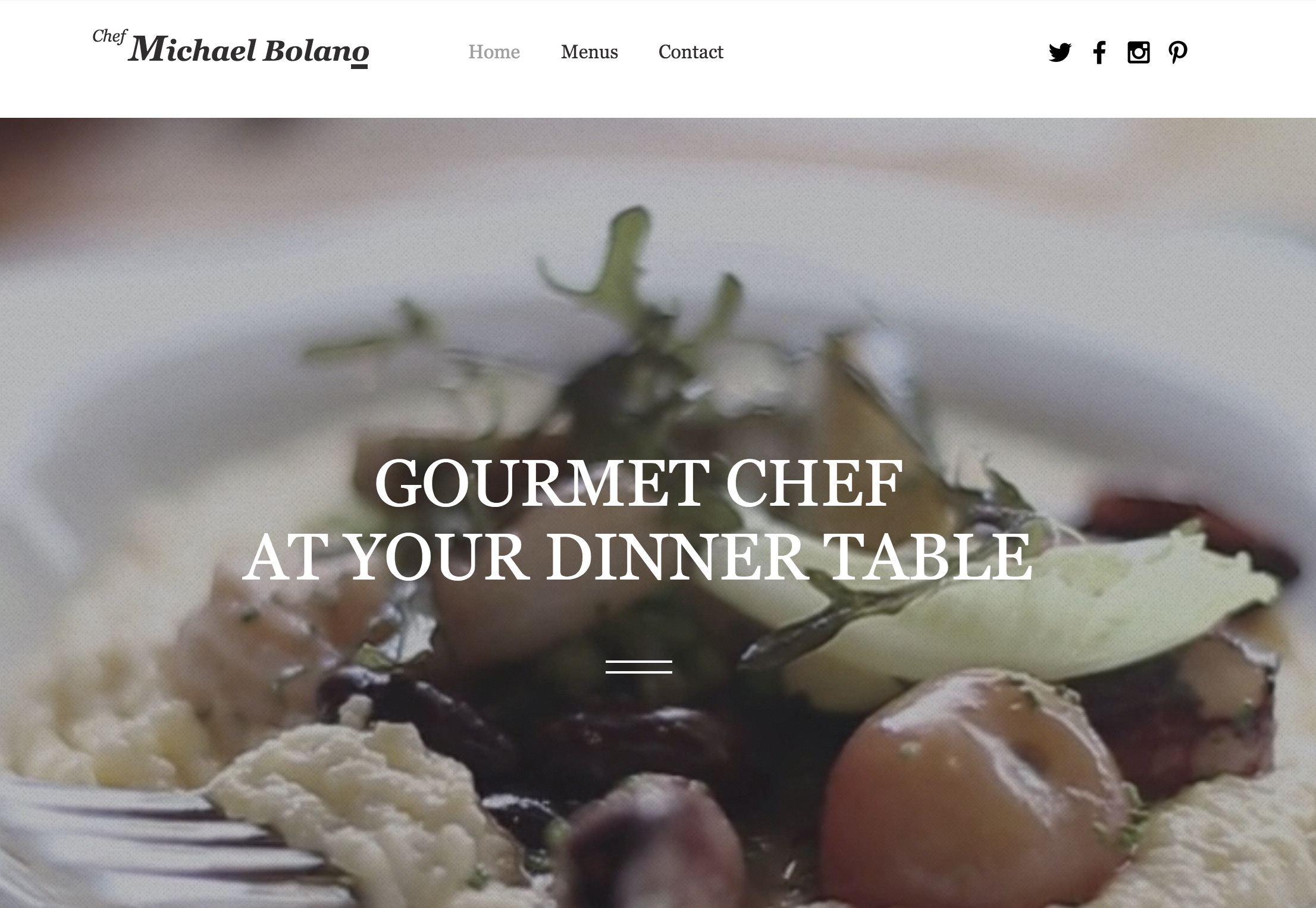 Elegant Private Chef Theme