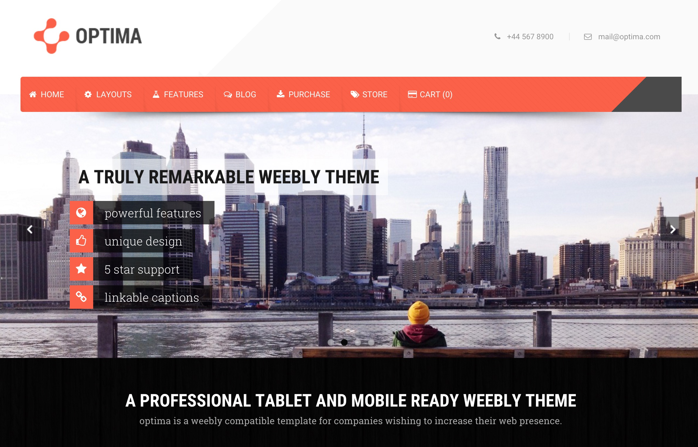 Optima Weebly Theme
