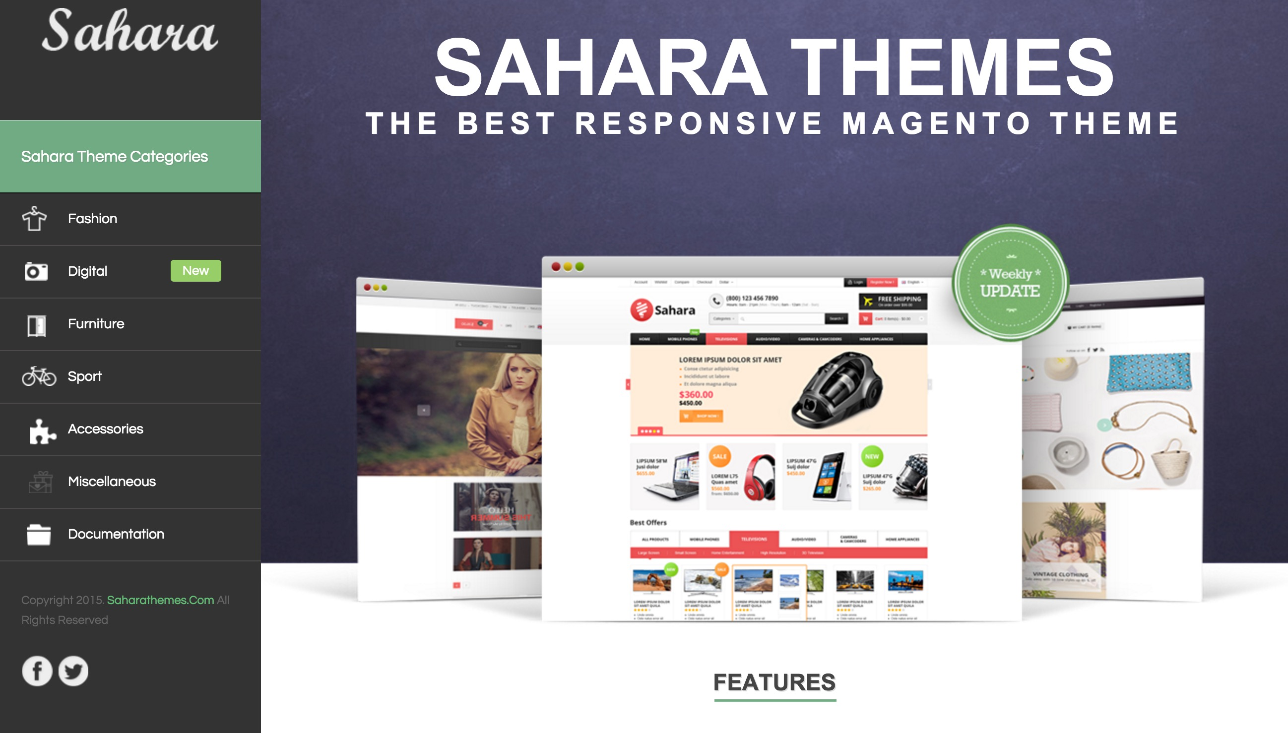 Sahara Business Template