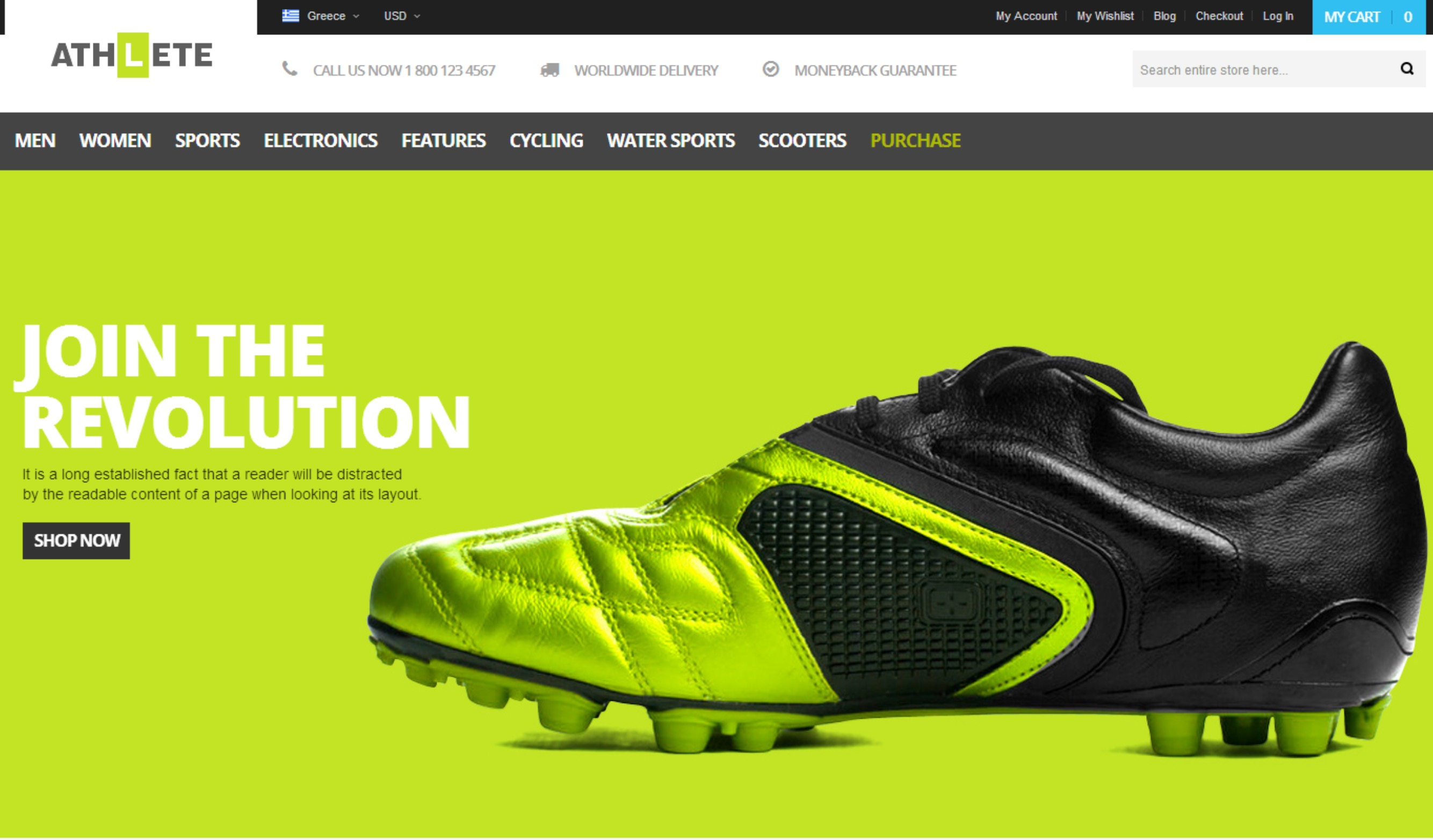 The Athlete – A Fluidly Responsive Template
