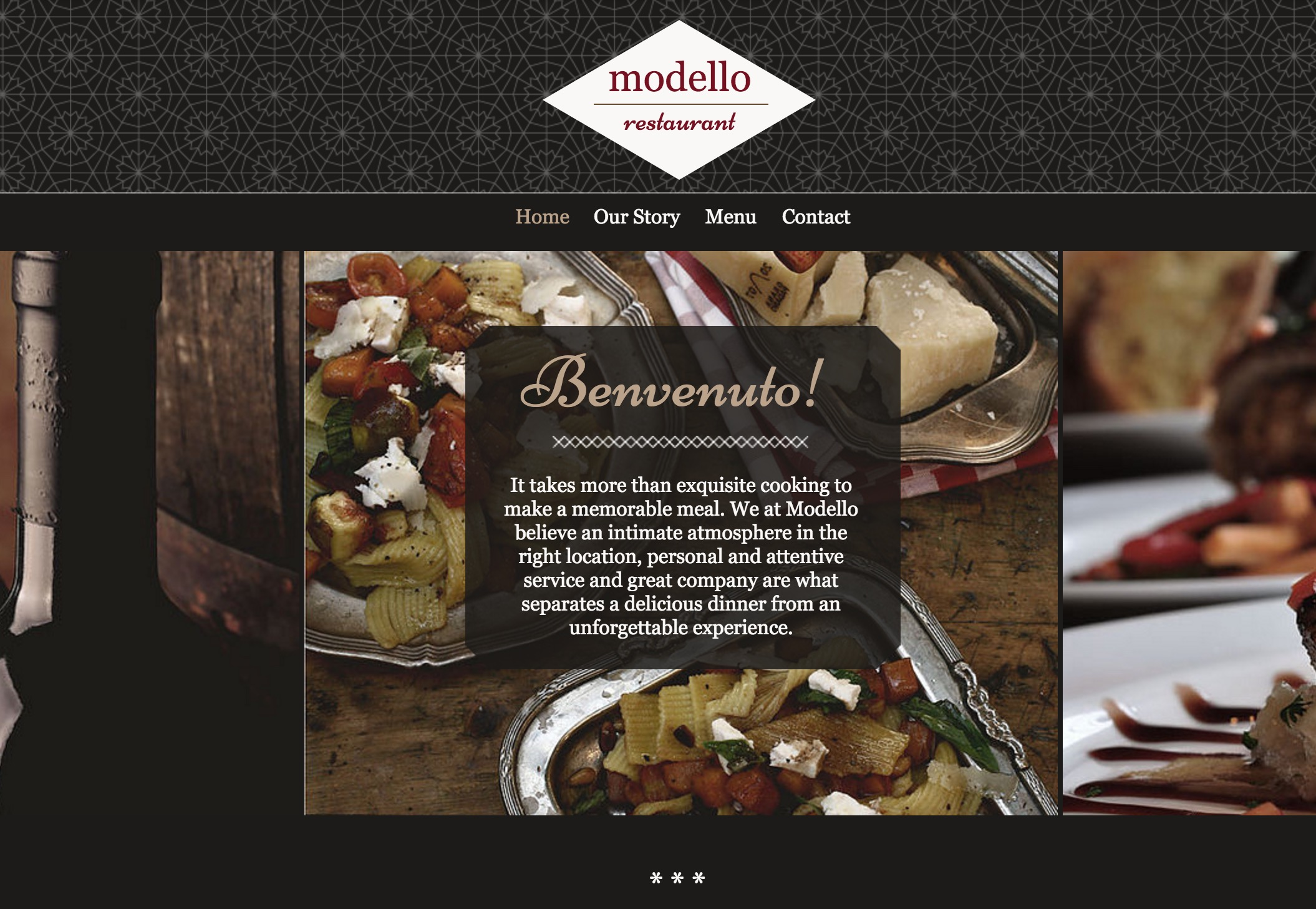 The Italian Restaurant Template