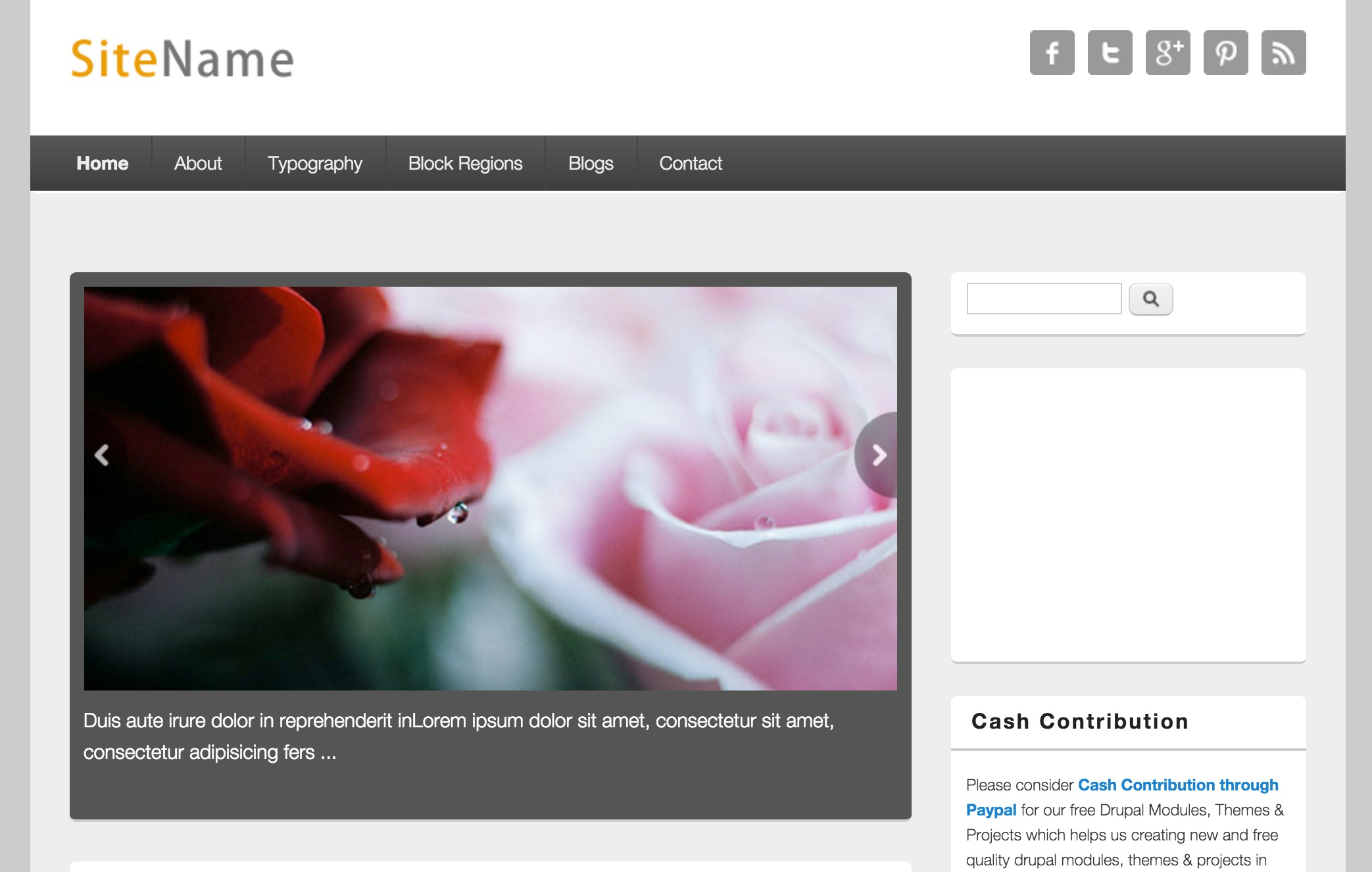 The Responsive Blog Template
