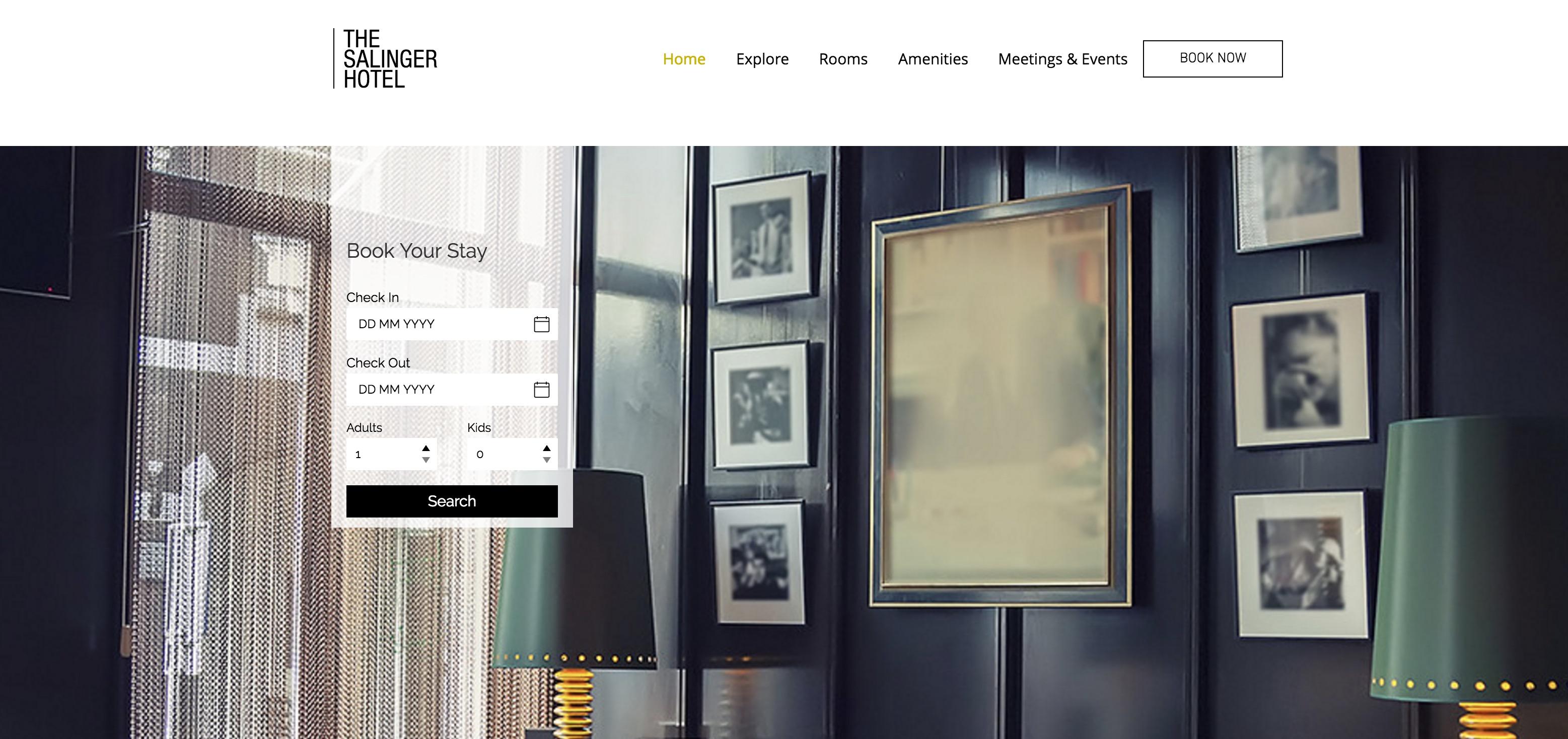 The Modern Hotel wix Theme