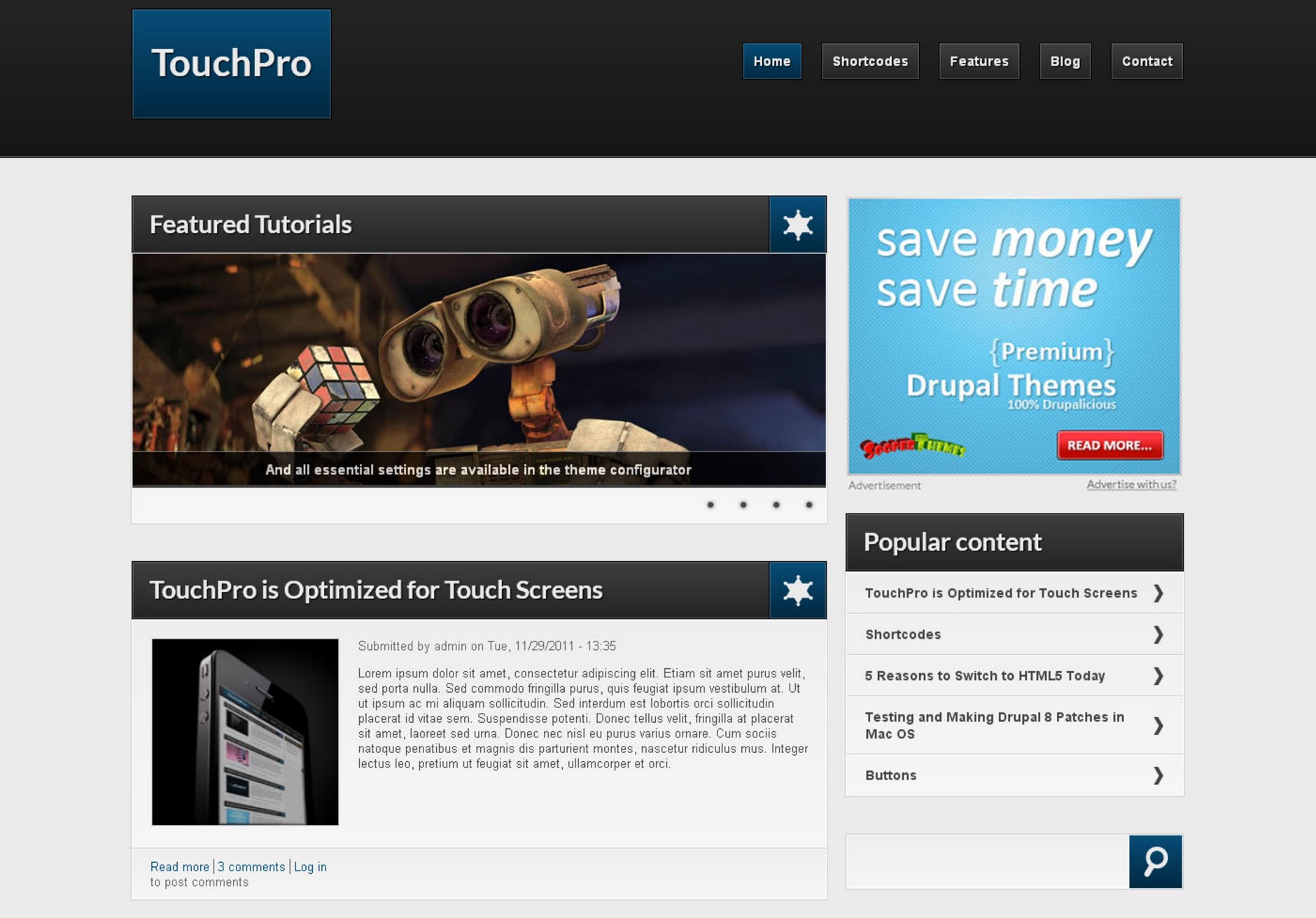 Touchpro Template