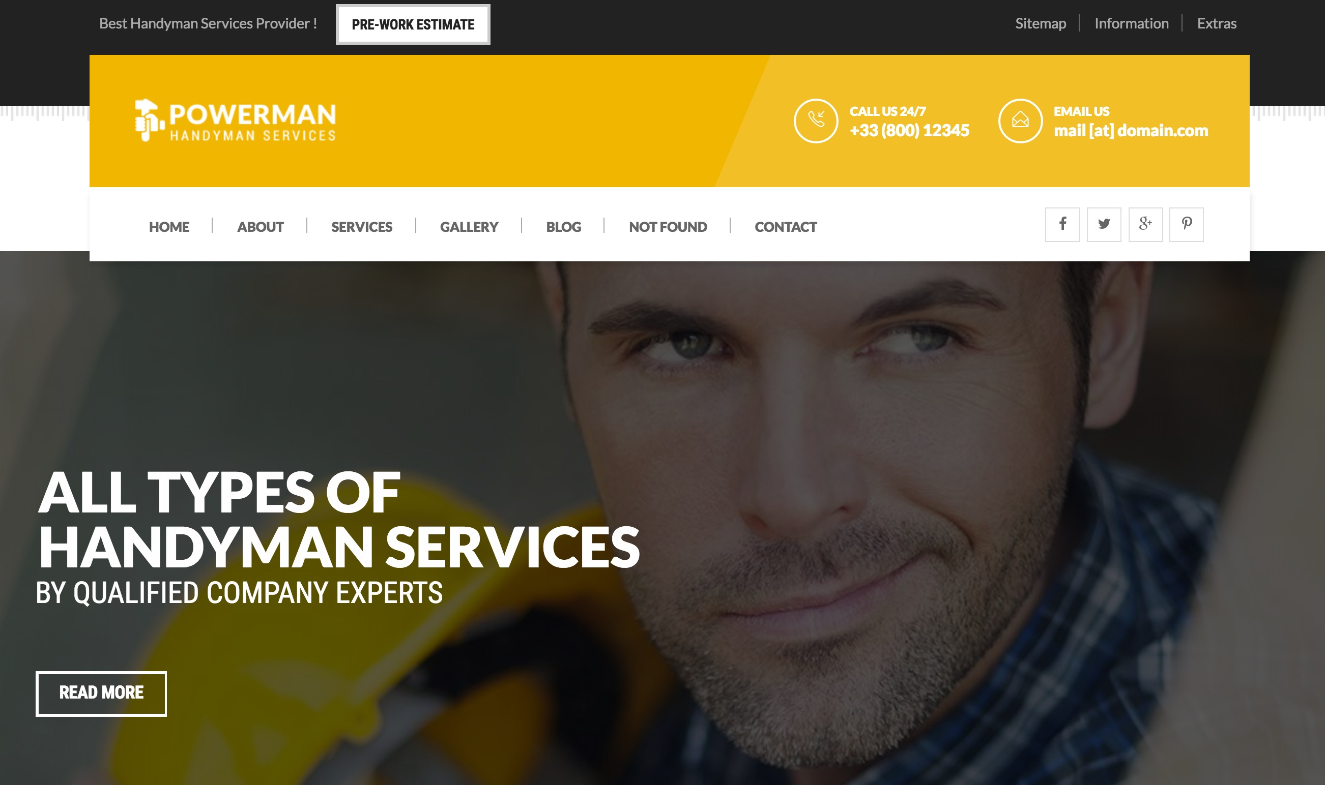 POWERMAN - Handyman Services Drupal Theme