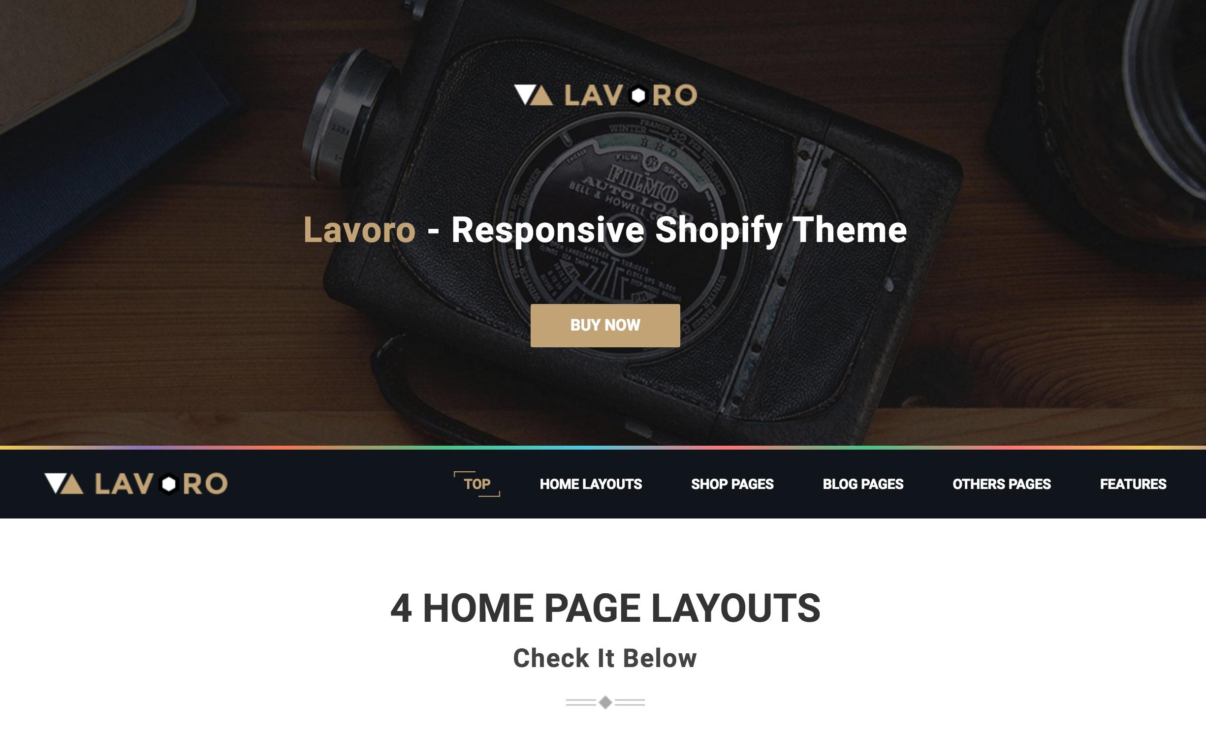 Lavoro shopify theme