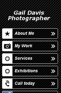 Mobile website design gives visitors basic information.