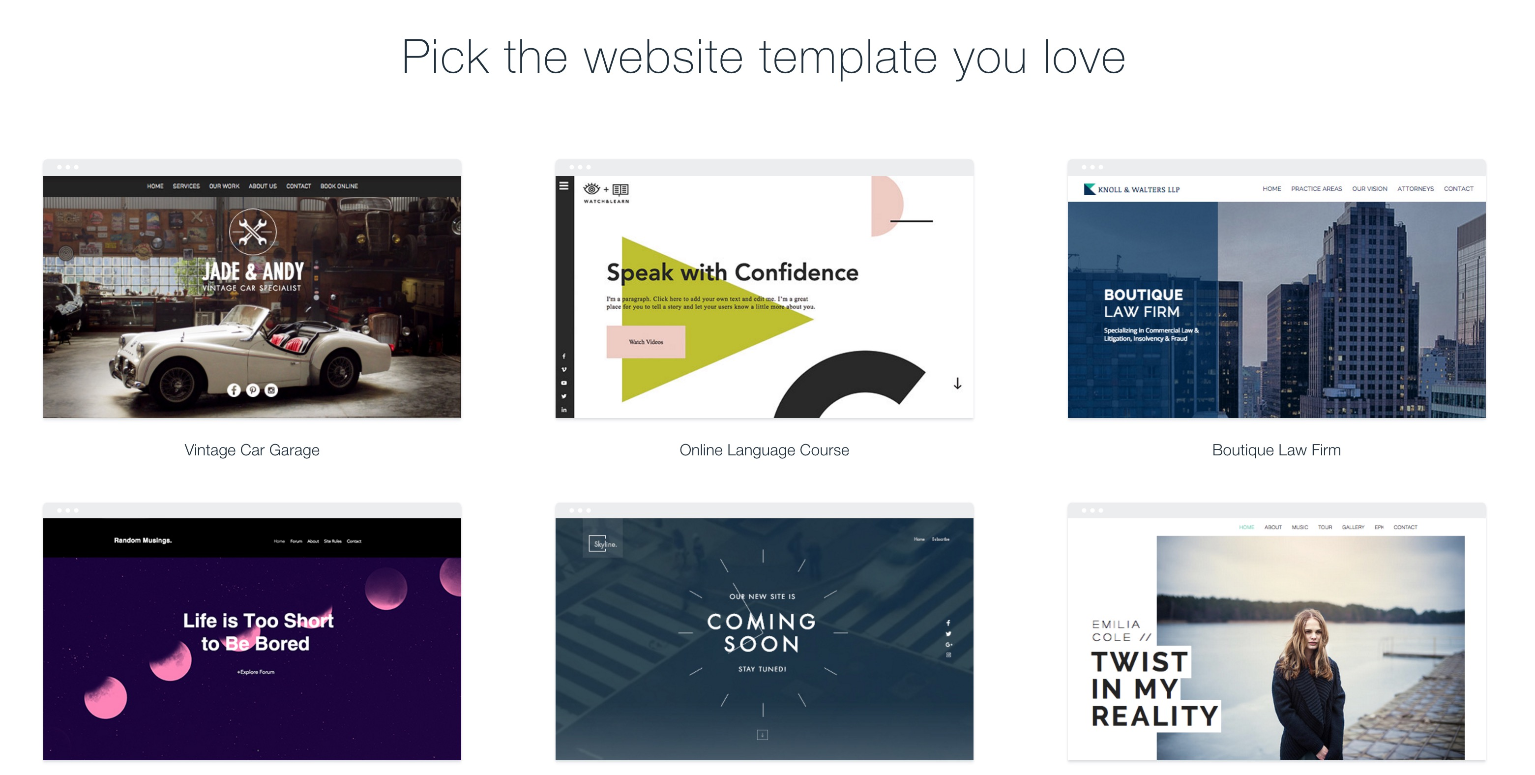 creating a site using website templates a definitive guide
