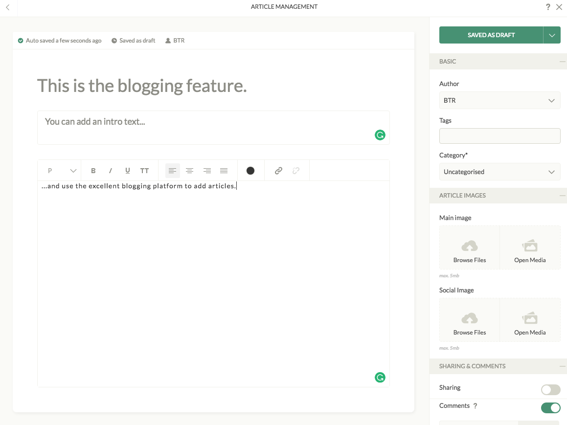 Ucraft Blogging Platform Review