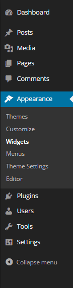 WordPress Sidebar Admin Panel