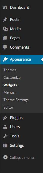 WordPress Sidebar Admin Panel