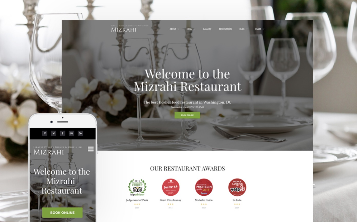 Kosher Restaurant WordPress Site